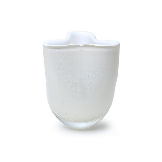 Vaso Trevo Mini 3 Branco com Ouro-E