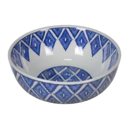 Bowl de Porcelana Azul Escuro