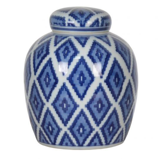 Pote de Porcelana Azul Escuro