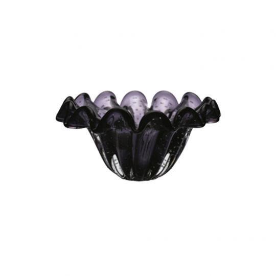 Centro de Mesa Onda em Vidro Ultra Violeta