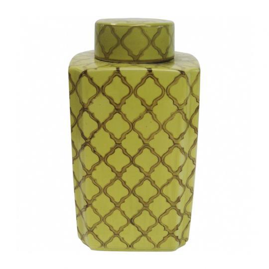 Pote de Cerâmica Dia Amarelo G