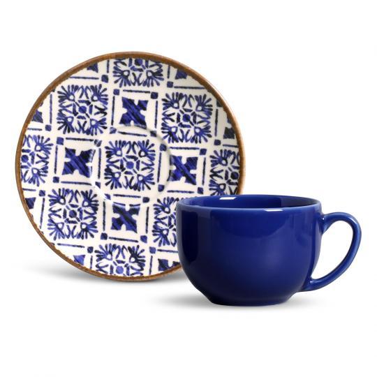 Jogo com 06 Xícaras de Chá Coup Asteca