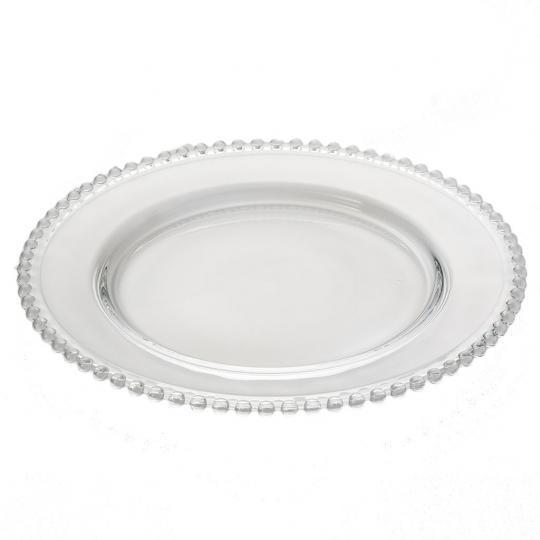 Sousplat Cristal Pearl Silver