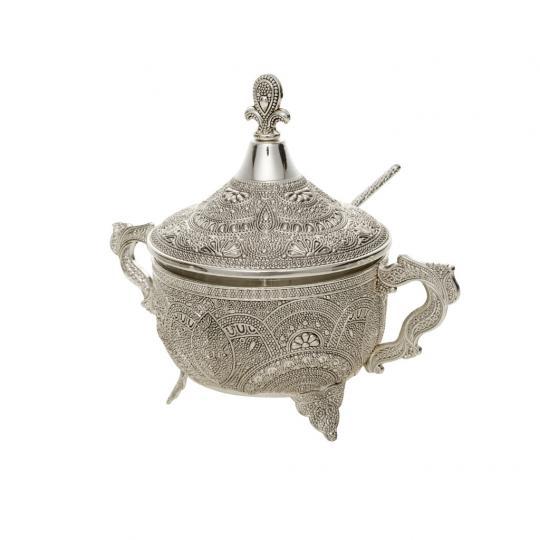 Açucareiro Silver Plated Marrocos de Zamac
