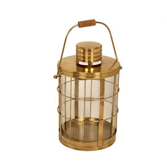 Lanterna Decorativa de Bronze e Vidro Lomami Média