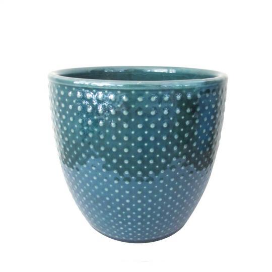 Vaso de Cerâmica Azul