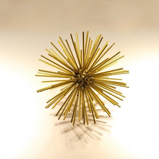Bola Decorativa Em Metal Dourado