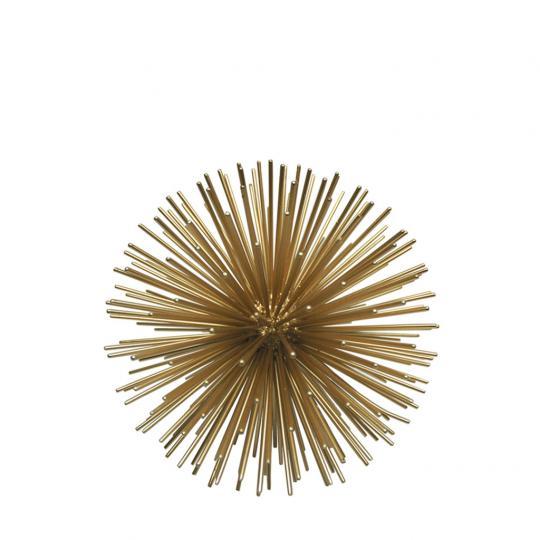 Esfera de Metal Dourado