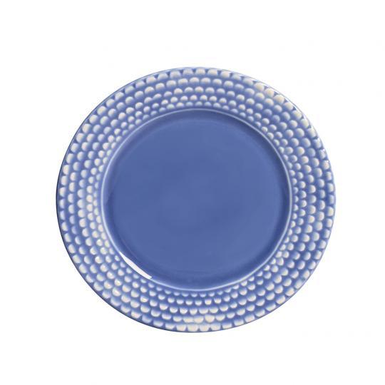 Conjunto com 06 Pratos de Sobremesa Escama Azul
