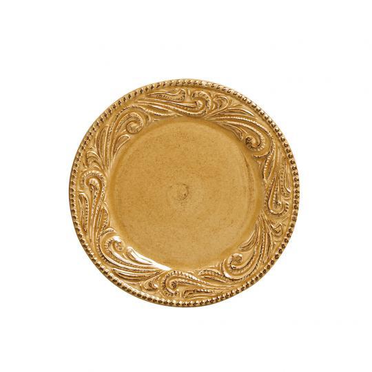 Conjunto com 06 Pratos de Sobremesa Ravelo Mostarda