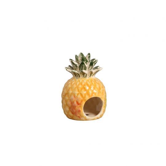 Porta Guardanapo Abacaxi Amarelo com Branco