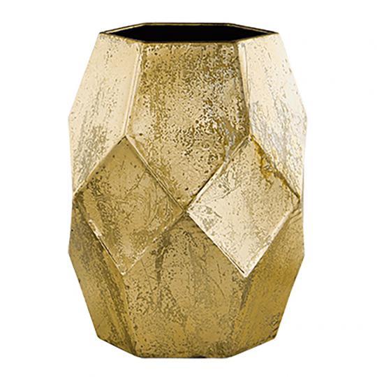 Vaso em Metal Dourado P