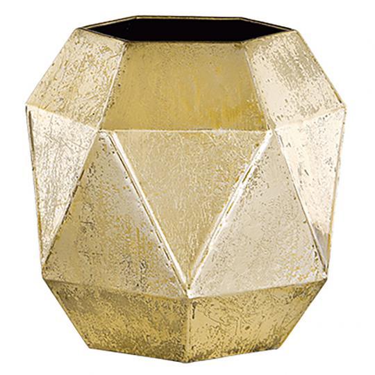 Vaso em Metal Dourado G