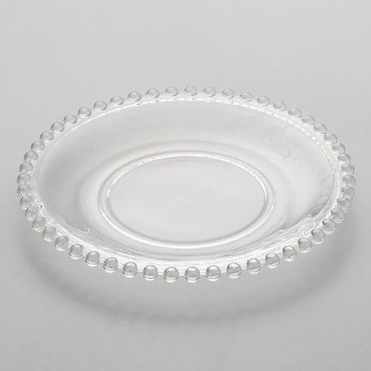 Jogo com 04 Pratos Sobremesa Cristal Pearl
