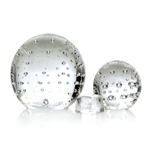 Peso de Cristal Pequeno com Bolha