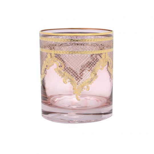 Copo de Cristal para Whisky Rosa