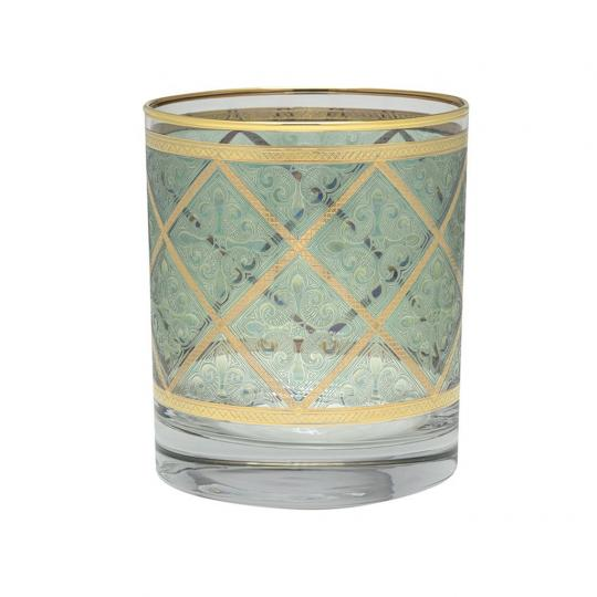 Copo de Cristal para Whisky Verde