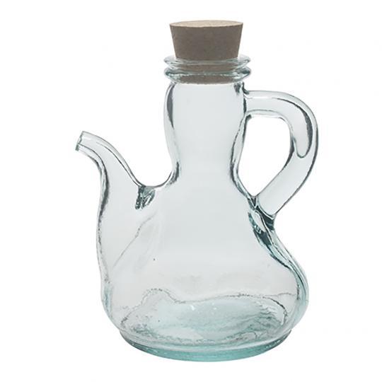 Garrafa para Azeite de Vidro Transparente com Tampa