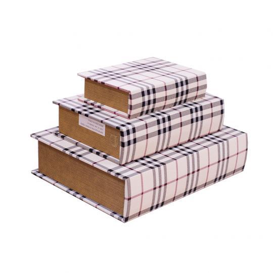 Conjunto 03 Caixas Formato Livro