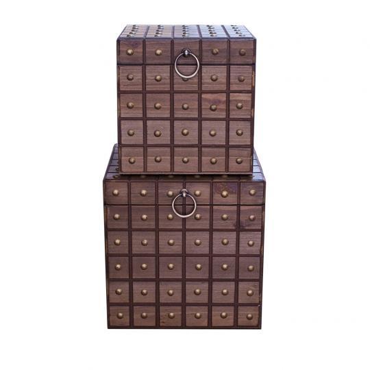 Conjunto com 02 Caixas Quadrada em Taxa