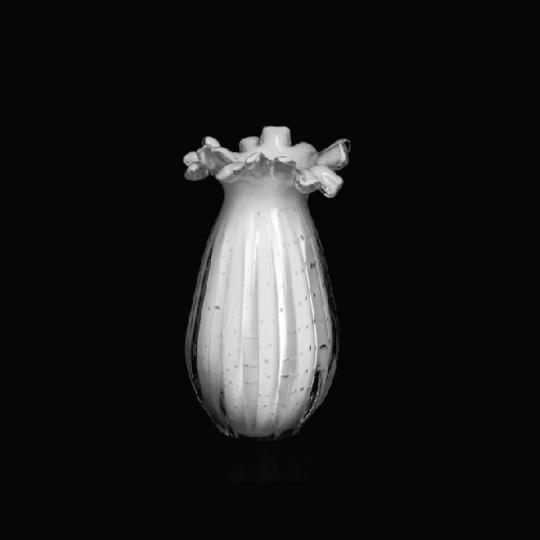 Vaso Branco de Cristal M