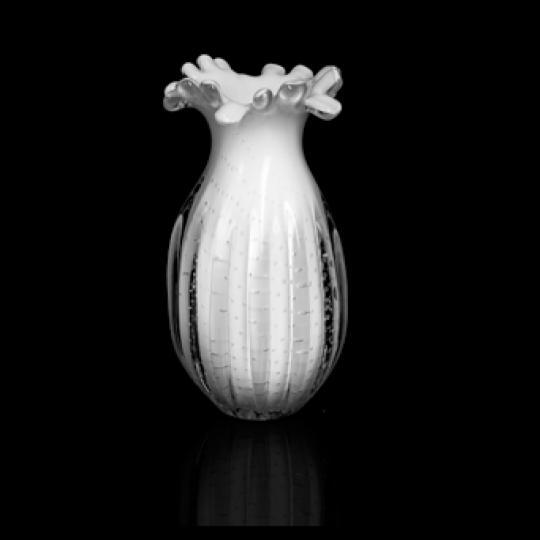 Vaso Branco de Cristal G