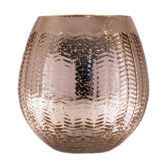 Vaso Decorativo de Vidro na Cor Dourado M