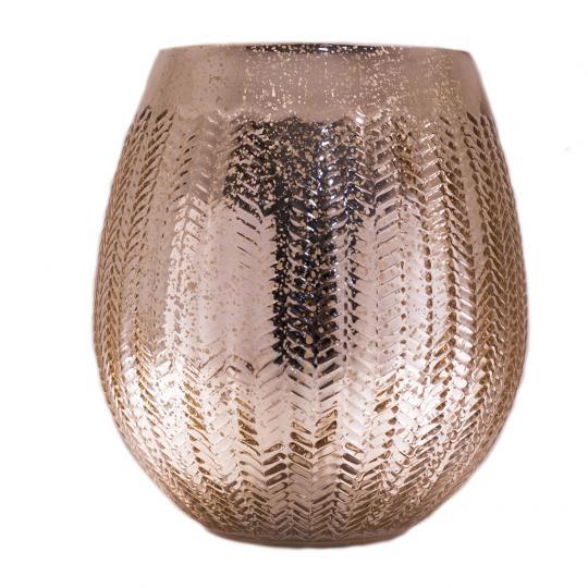 Vaso Decorativo de Vidro na Cor Dourado G
