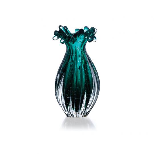 Vaso Esmeralda de Cristal M