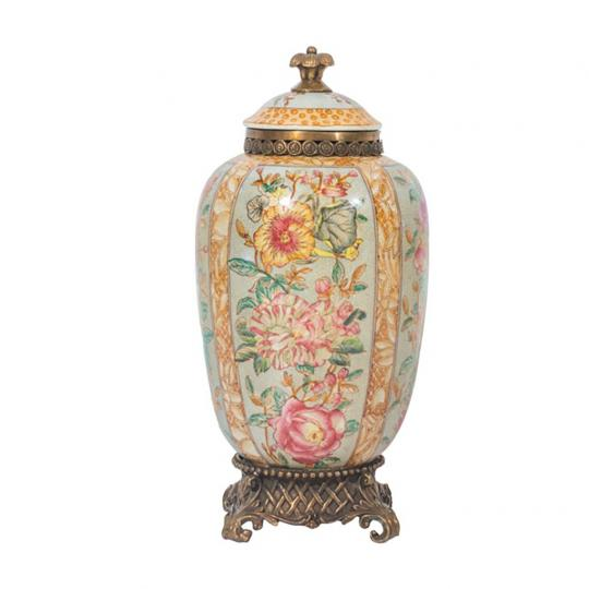 Vaso de Porcelana Flor