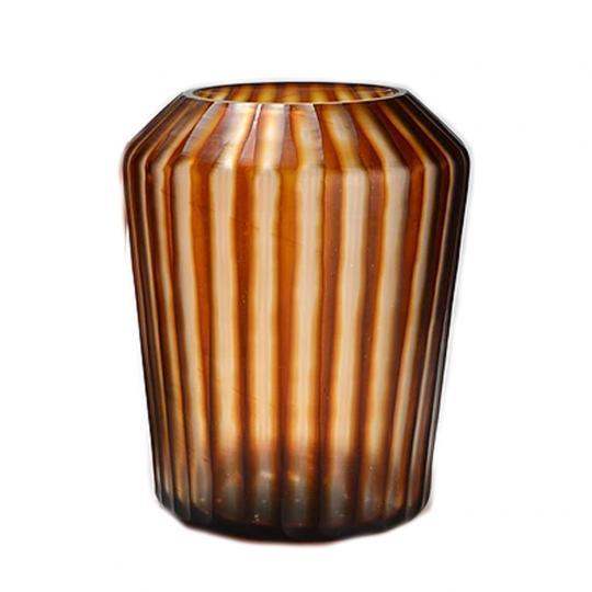 Vaso de Vidro Tabla Ambar Grande