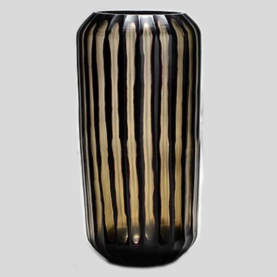 Vaso de Vidro Tabla Black Longo