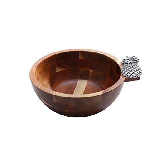 Bowl de Acacia Abacaxi Prata