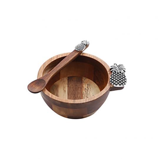 Conjunto Bowl de Acacia e uma Colher de Pau de Abacaxi
