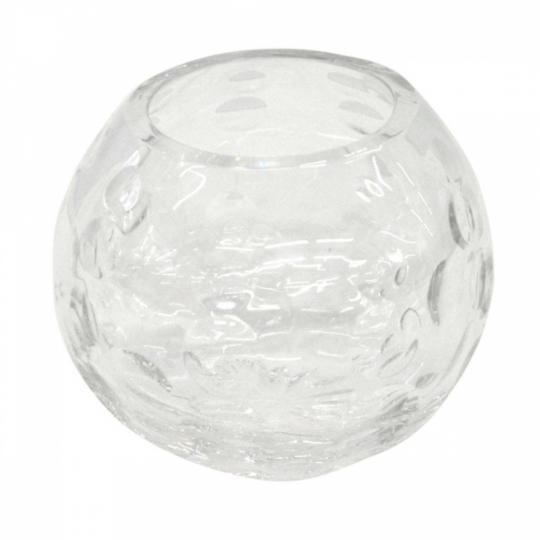 Vaso Decorativo em Vidro Transparente P