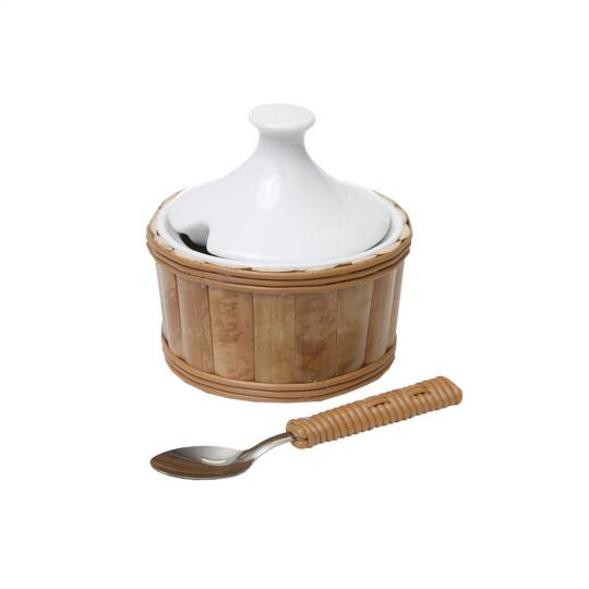 Açucareiro com Colher Bambu