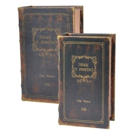 Conjunto com 2 Caixas em Formato de Livro