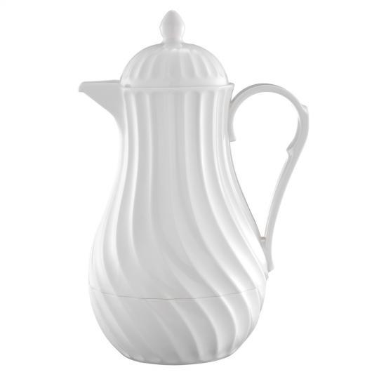 Garrafa Térmica de Plástico e Vidro Branca