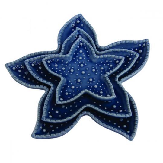Conjunto Pratos Estrela do Mar 03 Peças