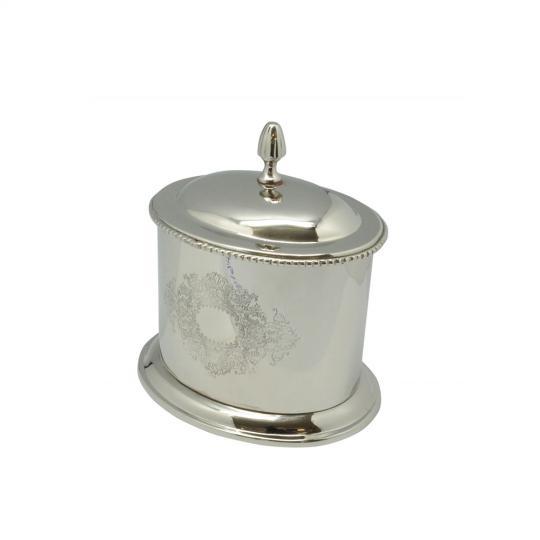 Caixa Decorativa Banhada em Prata