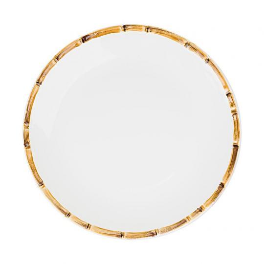 Conjunto com 6 Pratos Rasos Bambu