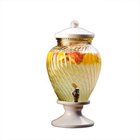 Dispenser de Vidro com Base de Cerâmica 6l