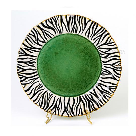Prato Raso com Borda de Zebra e Verde